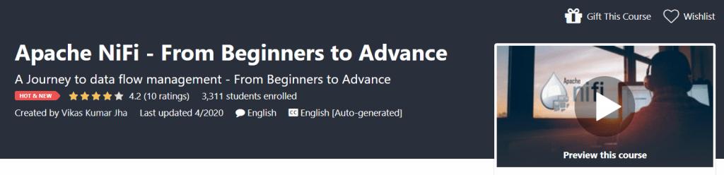 Apache NiFi Course Cover Image